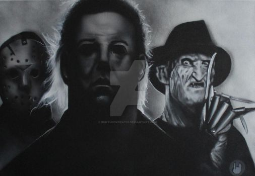 Jason, Michael und Freddy by buntUNDkreativ