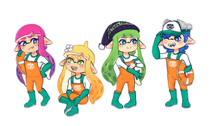 { C } Salmon Run Squad! by WualdhO