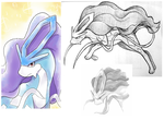 suicune doodles by snuddi