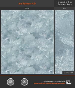 Ice Pattern 4.0 by Sed-rah-Stock