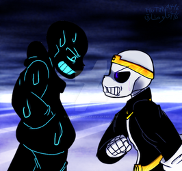 The Confrontation on Night and Nightmare  by Yurafo