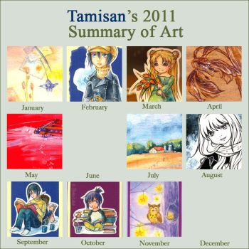 Summary of art 2011 by tamisan-mio