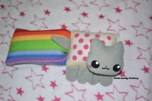 Nyan cat plush by gothic-yuna