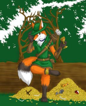 kitsune dorabo--fox thief by Iciclefobbit