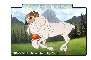 20675 SFR's Bend to My Will by SpytFyre-Ranch