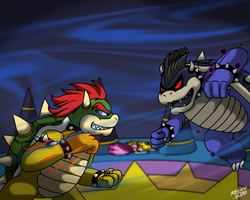 Versus Dark Bowser by ppowersteef