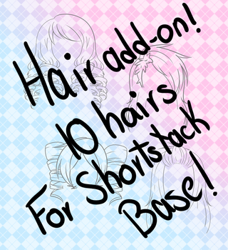 .:Shortstack Hairs Add-On! (500 points/5$):. by LovelyCuteAdopts