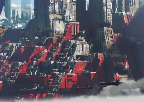 Exoplanet   Red city by paooo