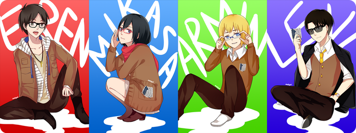 Attack on Glasses by melyui