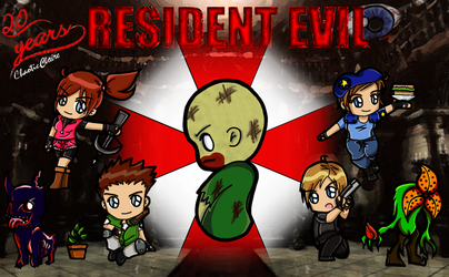 Resident Evil 20 Anniversary by ChaoticClaire