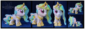 Filly Celestia Custom Plush by Nazegoreng