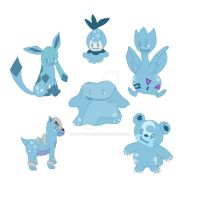 Dotty the Ditto and their forms by PantherZavantis