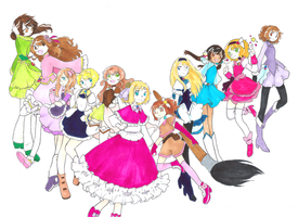 Hetalia Magical Girl AU by dream-thunder