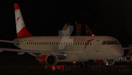 Austrian Airlines E195 Angle 1 by Polarjet
