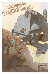 Atomic Robo Postcard by Zubby