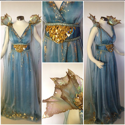 Daenerys Targaryen Blue Dress by glimmerwood