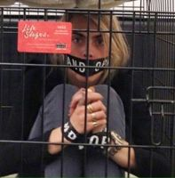 Cara Delevingne Tape Gagged (real) by micol123