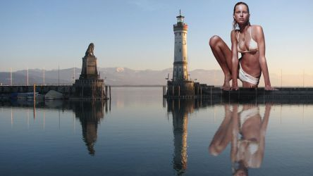 Giantess in Constance Lake 2 by Accasbel