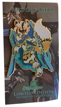 Astra Star Dog Enamel Pin by The-SixthLeafClover
