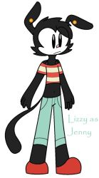 Wakko Universe: Lizzy As Jenny Pizza by Agent-SP295-HQ