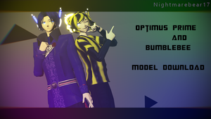 ||MMD|| Optimus Prime and Bumblebee DOWNLOAD by NightmareBear17