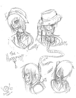 MALE CP OC CONCEPT DESIGN #2: The Hangman by InvaderIka