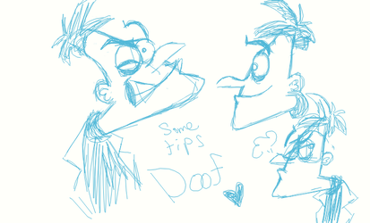 Some Tips on Drawing Doof by DarkwingSnark
