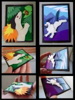 ACEO Typhlosion and Absol by Sysirauta