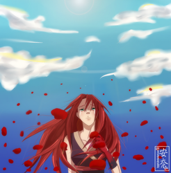 wash the blood in a field of poppies by Itygirl