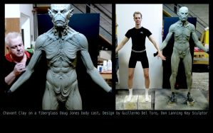 Full body Ancient Vampire Make-up (sculpture) by DonLanning