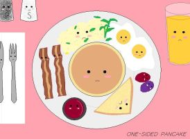 Your Breakfast Isn't Amused by One-Sided-Pancake