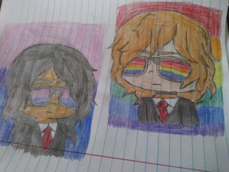 agent gae and agent bi by Light-Blue-Chan