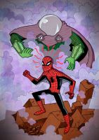 Spiderman Vs Mysterio by mikelodigas
