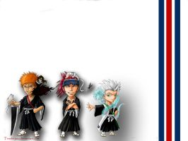 Bleach Chibi Wallpaper by Tenshiryuu