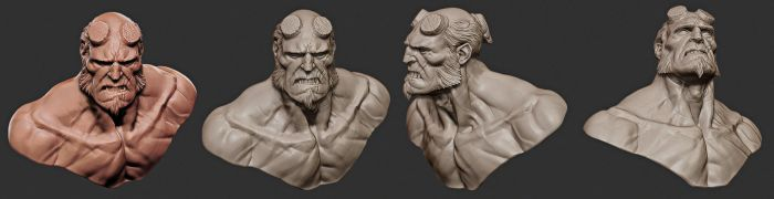 Hellboy bust by mojette