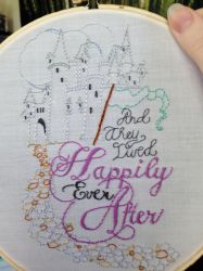 Happily Ever After Embroidery by loveandeyeballs