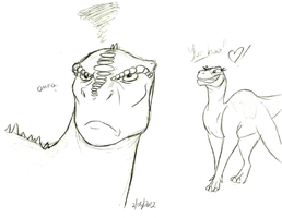 aladar is not amused by Stray-Sketches