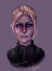 Cassie Cage  speed paint by yatsuakumahichigo