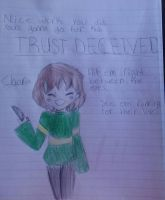 Chara You're gonna go far kid. (Undertale) by Shimmering-Moon