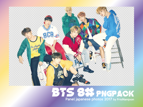 BTS 8 png pasck panels japanese photos by frisijose