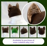 Wood Grain Cat Hat by cutekick