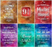 PRINT PACK - Solemnly swear that I'm up to no good by RoryonaRainbow