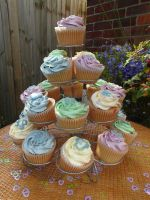 Baby Shower Cupcakes stock 1 by Sassy-Stock