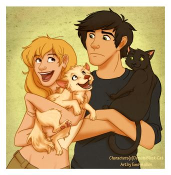 AT:DBC-Miley and Chester by Emo-Hellion