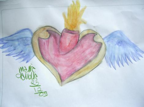 Watercolour Heart by Vampi-chanBr