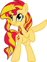 Sunset Shimmer by R Dash Vector SorataDaioudji by sorata-daidouji