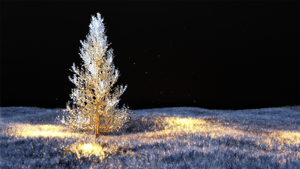 Magic Tree in the Snow by Etrelley