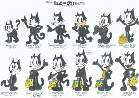 The Evolution of Felix The Cat (1919 to present) by FTFTheAdvanceToonist