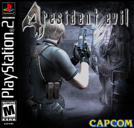 Resident Evil 4 ps2 Jewel Case Cover by StartingAgain
