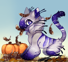 Oops cat ate our turkey (YCH) by GreaserDemon